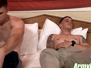Army, Blowjob, Gorgeous, HD, Hunk, Military, Muscular, Rough,