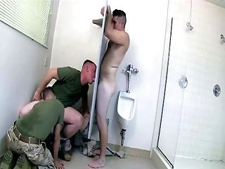 Army, Blowjob, Glory Hole, HD, Hunk, Military, Threesome, Uniform,