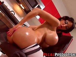 Amy Anderssen, Ass, Babe, Beauty, Big Tits, Bold, Boots, Brunette, Dildo, Fake Tits,