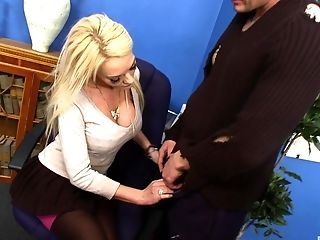 Antonia Deona, Blonde, Couple, Gorgeous, Horny, Hunk, Long Hair, MILF, Pornstar, Rough,