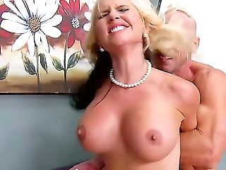 Ball Licking, Balls, Big Tits, Blonde, Blowjob, Condom, Cute, Deepthroat, Dick, Drooling,