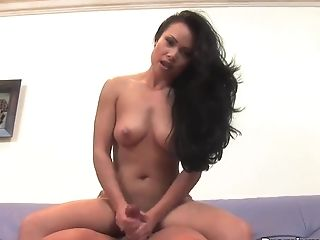 Amazing, Brunette, Ethnic, Handjob, HD, Long Hair, MILF, Mya Luanna, Natural Tits, POV,