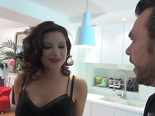 Anna Polina, Couple, Hardcore, Husband, Lingerie, Natural Tits, Stockings,