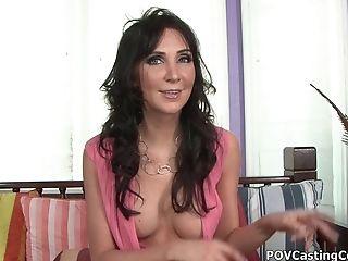 Ball Licking, Blowjob, Casting, Couple, Diana Prince, Exhibitionist, Fake Tits, Handjob, Hardcore, HD,