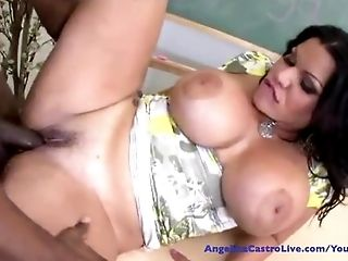 Angelina Castro, Big Ass, Big Cock, Big Tits, Blowjob, Cuban, Cumshot, Deepthroat, Gagging, Latina,