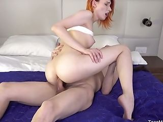 Anal Sex, Ass Fucking, Blowjob, Boobless, Cowgirl, Creampie, Cute, First Timer, Ginger, Girlfriend,