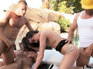 Anal Sex, Big Tits, British, Double Penetration, Gangbang, Hailey Young, HD, Natural Tits,
