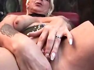 Blonde, Exotic, Homemade, Masturbation, Mature, Sex Toys, Solo, Stockings,