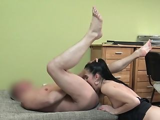 Amateur, Blowjob, Brunette, Cumshot, Doggystyle, Glasses, HD, Office, Reality, Spreading,
