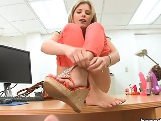 Blonde, Blowjob, Cory Chase, Facial, Handjob, HD, MILF,