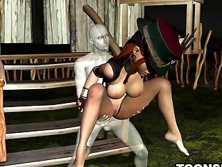 3d, Babe, Big Tits, Bold, Brunette, Cartoon, Couple, HD, Outdoor, Rough,