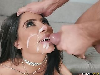 Anal Sex, Blowjob, Bra, Brunette, Couple, Cowgirl, Cum, Cum In Mouth, Cum Swallowing, Cumshot,