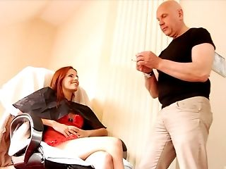 Couple, Dick, Ginger, Hardcore, Long Hair, Makeup, Old, Pussy, Redhead, Young,