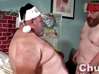 Couple, Fat, HD, Santa,