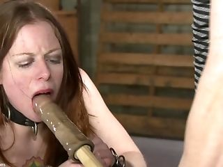 BDSM, Bondage, Crying, Fetish, Forced Orgasm, Helpless, Huge Dildo, Maledom, Moaning, Peaches,