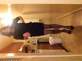 Crossdressing, Miniskirt, Sissy, Smoking,