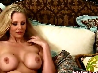 Ass, Big Tits, Blonde, Cute, Fingering, Julia Ann, Lingerie, Masturbation, MILF, Rough,