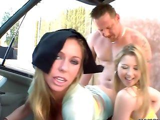 блондинки, Brooklyn Bailey, Brynn Tyler, групповой секс, хардкор, в высоком разрешении, реалити, Sunny Lane, молодые,