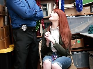 Cop, Doggystyle, Hardcore, Redhead, Teen, Uniform,