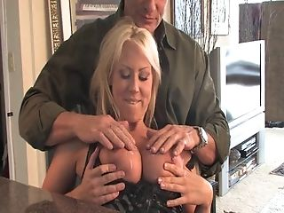 Backseat, Big Tits, Blonde, Blowjob, Car, Clamp, Couple, Cowgirl, Dick, Doggystyle,