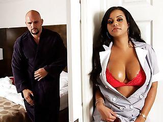 Bedroom, Big Ass, Big Tits, Black, Blowjob, Bra, Brunette, Cheating, Chubby, Clamp,