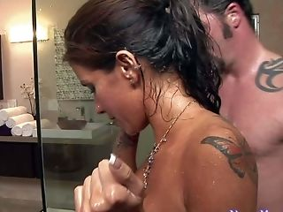 Alyiah Stone, Big Tits, Blowjob, Brunette, Handjob, HD, Jacuzzi, Jerking, Massage, Nuru,