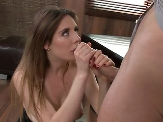 Babe, Blowjob, Brunette, Facial, Samantha Bentley,