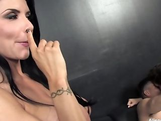 Alison Tyler, Babe, Big Tits, Dick, HD, Pornstar, Rough, Threesome,