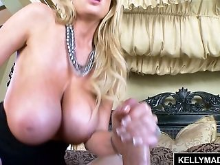 Big Tits, Blonde, Blowjob, Cumshot, HD, Kelly Madison, Licking, MILF,