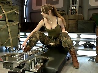 Army, Babe, Blonde, Brutal, Close Up, Cute, Dildo, Experienced, Hardcore, Legs,