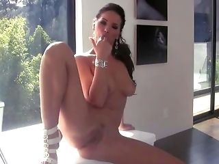 Angel Dark, Big Tits, Brunette, Classic, Glamour, HD, Long Legs, Masturbation, Mature, Pornstar,