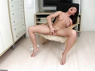 Anal Sex, Ass, Boobless, Brunette, Dildo, Fingering, Masturbation, Pussy, Sex Toys, Shaved Pussy,