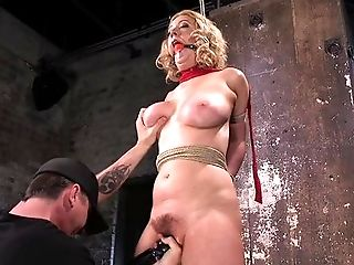 Big Tits, Blonde, Bondage, Caucasian, Cherry Torn, Couple, Domination, Fetish, HD, High Heels,