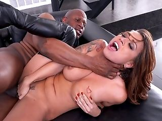 Anal Sex, Big Cock, Big Tits, Blowjob, Cumshot, Eva Angelina, Facial, HD, High Heels, Interracial,