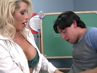 Big Tits, Blonde, Brooke Haven, College, Dick, Facial, Felching, HD, MILF, Teacher,