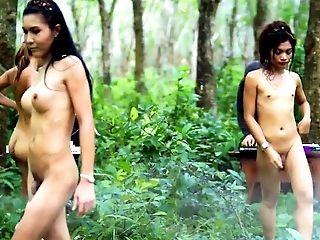 Asiatiques, Sans Seins, En Haute Qualité, Homme Efféminé , Nature, Outdoor, Petits Seins, Adolescentes , Thaîlandais , Jeune,