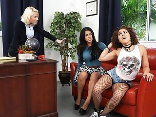 Babe, Curly, Fighting, Office, Pornstar, Reality, Teen,