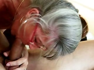 Blonde, Blowjob, Couch, Cute, Deepthroat, Glasses, Granny, Horny, Neighbor, Old,