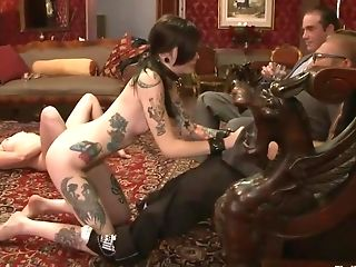 BDSM, Fetish, Footjob, Group Sex, Krysta Kaos, Lilla Katt, Submissive,