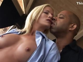 Big Tits, Blonde, Exotic, Facial, Interracial, Lauren Kain, Pornstar,